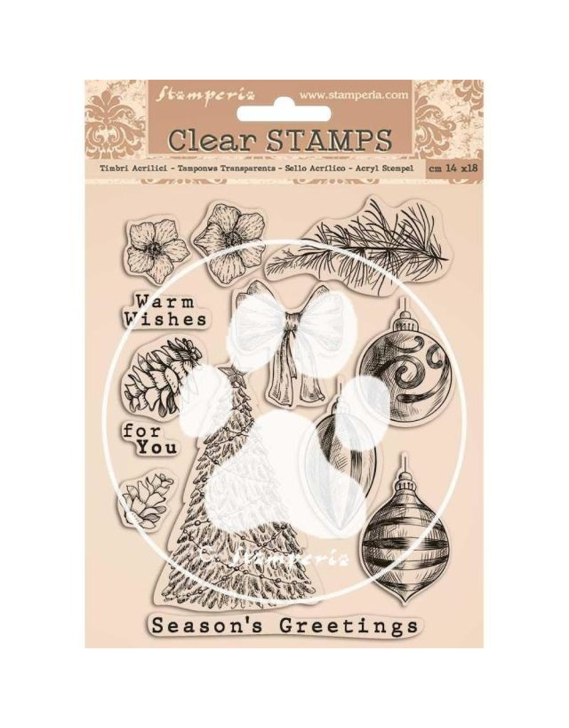 Stamperia Acrylic stamp cm 14x18 - Romantic Christmas