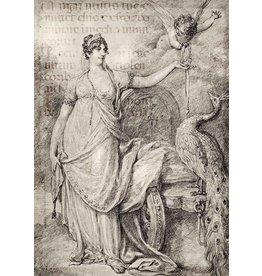 Decoupage Queen Juno and Cupid
