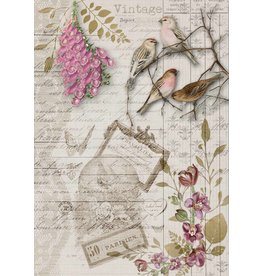Decoupage Queen Birds and Orchids