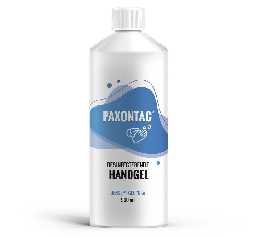 Paxontac Densept Gel 70% - 900 ml Navulling | 70% Alcohol | Antibacterieel | Biocide Gecertificeerd | Droogt snel en plakt niet