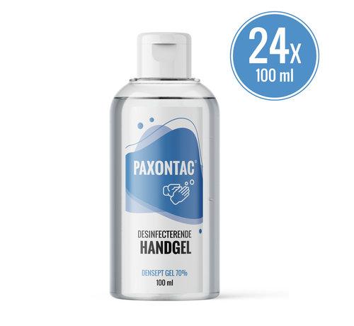 Paxontac Paxontac Desinfecterende Handgel   100 ml 24x Alcoholgel   Handig Om Mee Te Nemen   70% Alcohol   Antibacterieel   Biocide Gecertificeerd    Droogt snel en plakt niet