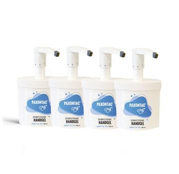 Paxontac Desinfecterende Handgel - 500 ml 4x met pomp - Hervulbare verpakking | Paxontac