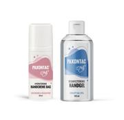 Paxontac Desinfecterende Handgel + Hydraterende Handcrème Dag | Paxontac