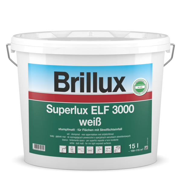 Brillux Superlux ELF 3000 2,5 Liter 100% Wit