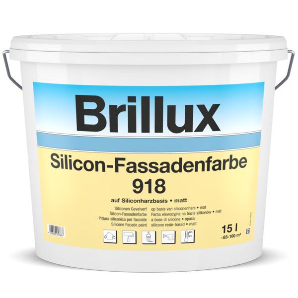 Brillux Siliconen-Gevelverf 918 10 Liter 100% Wit
