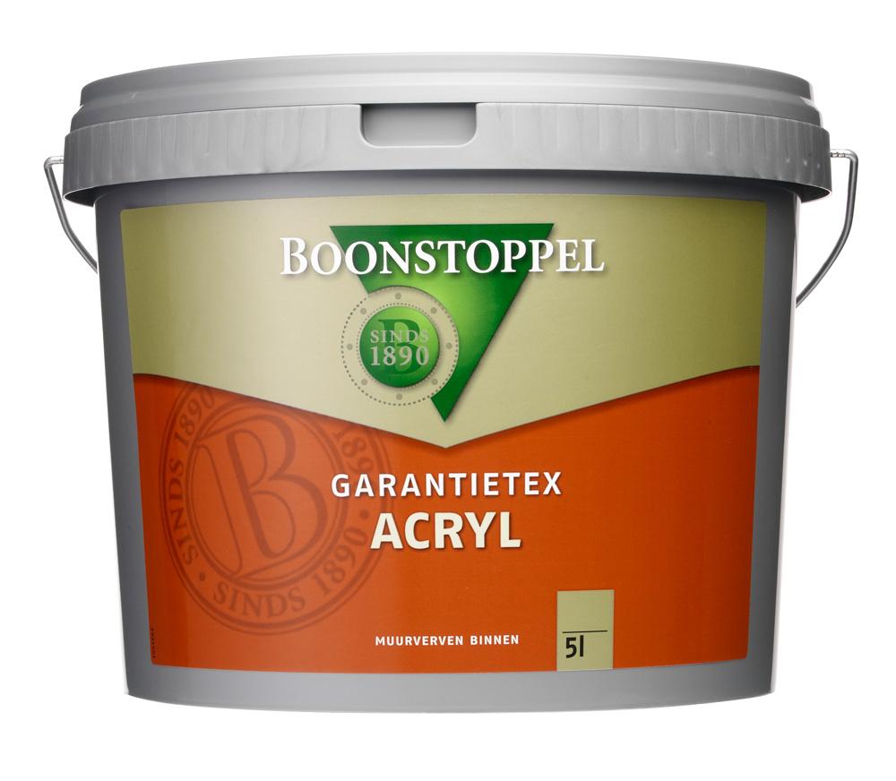 Boonstoppel Garantietex Acryl 5 Liter 100% Wit