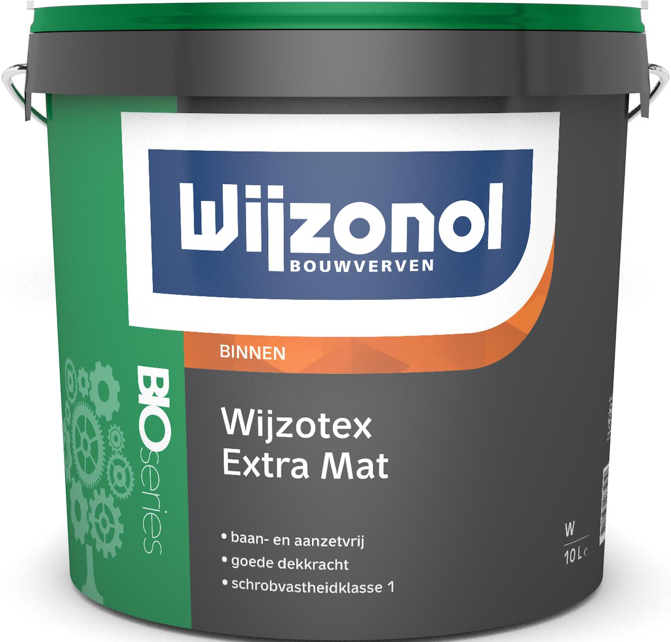 Wijzotex Extra Mat Bioseries 10 Liter 100% Wit