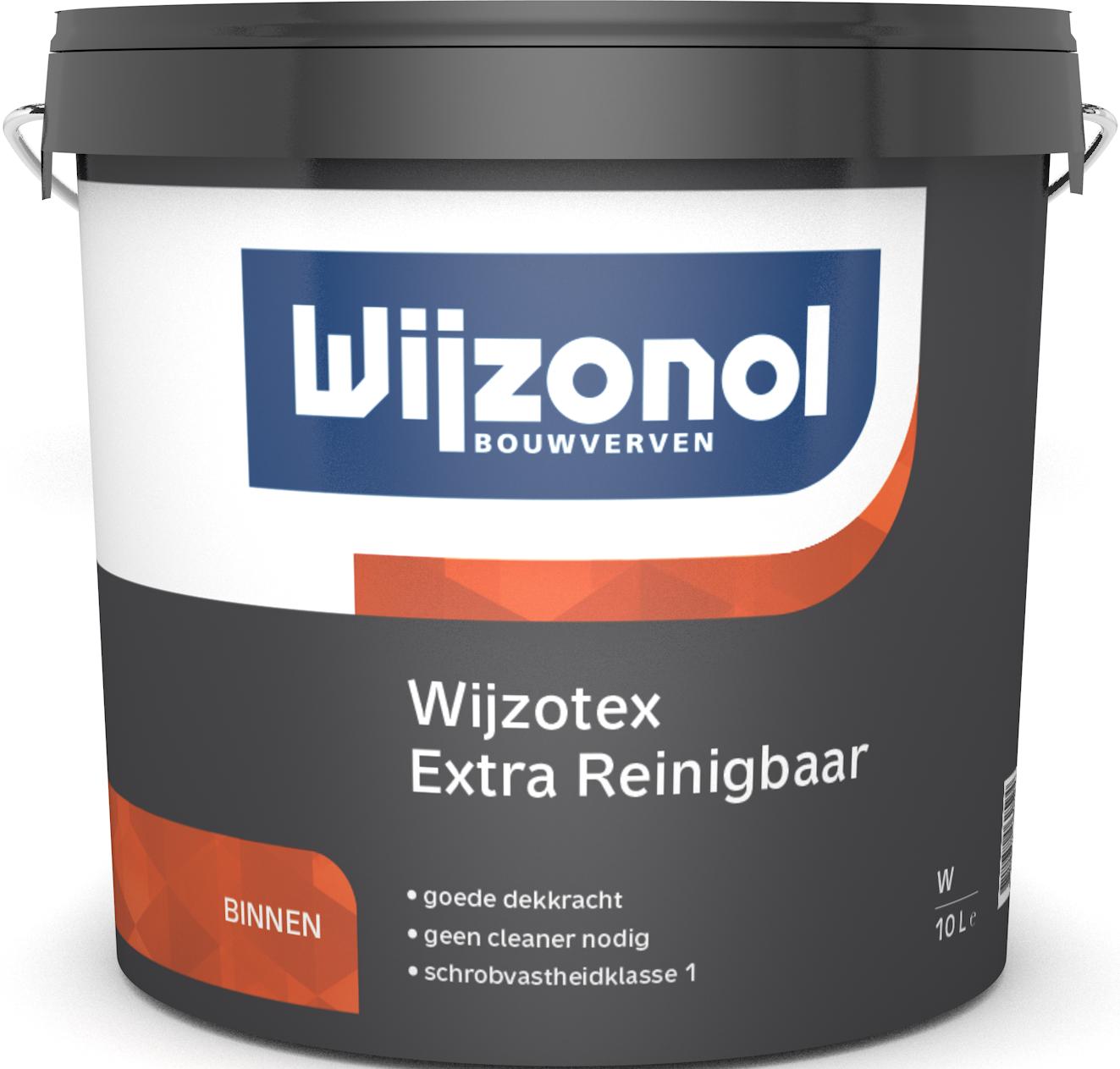 Wijzotex Extra Reinigbaar 10 Liter 100% Wit