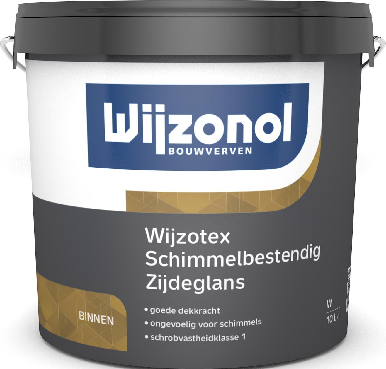 Wijzotex Schimmelbestendig Zijdeglans 10 Liter 100% Wit