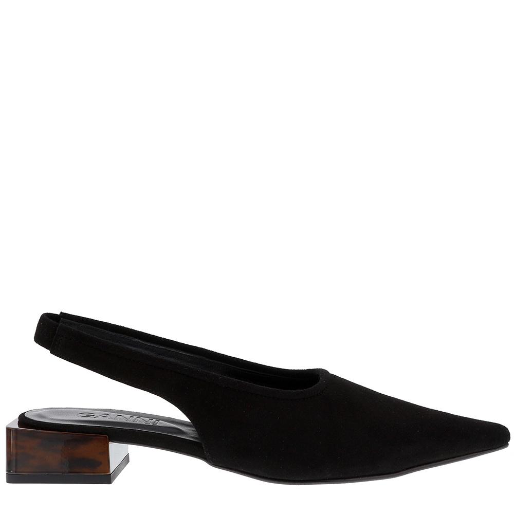 Ganni loafers S1024 zwart