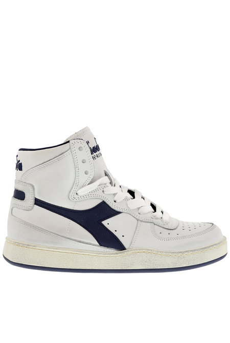 Diadora Heritage sneakers Mi Basket Used wit-blauw