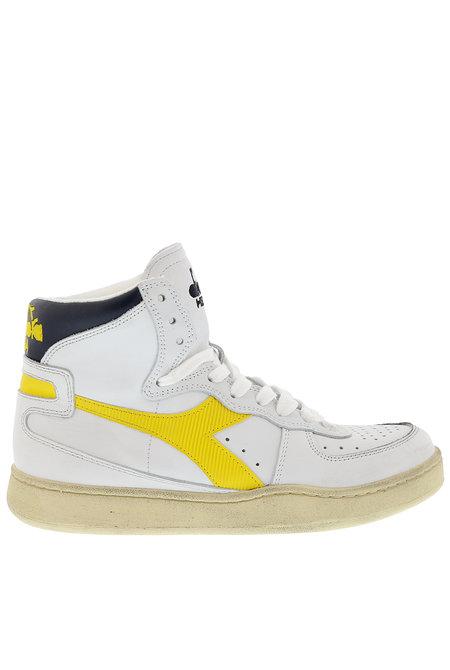 Diadora Heritage sneakers Mi basket Used wit-geel