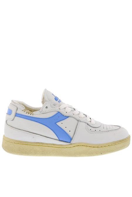Diadora Heritage sneakers Mi basket row cut wit-blauw