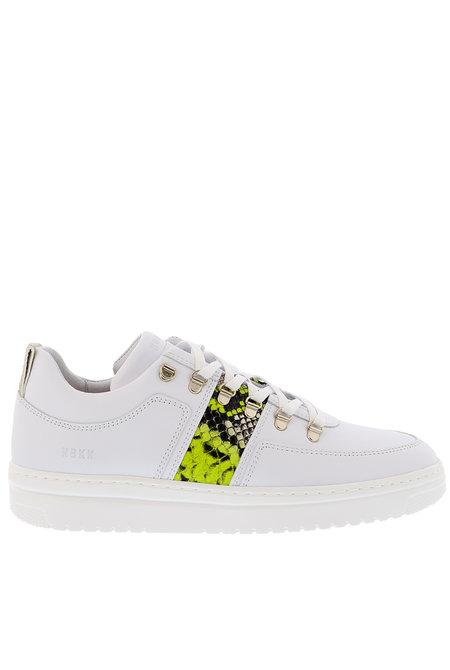 Nubikk sneakers Yeye Maze Block Python wit