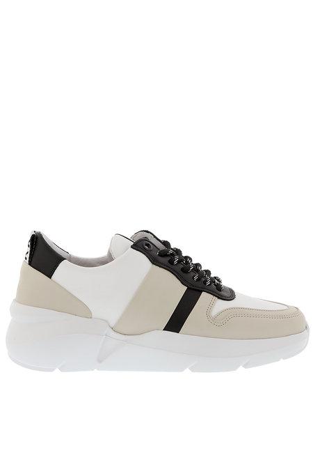 Nubikk sneakers Lucy May wit-zwart