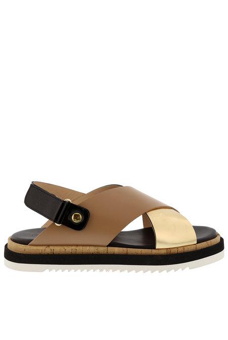 Attilio Giusti Leombruni sandalen D642032 camel