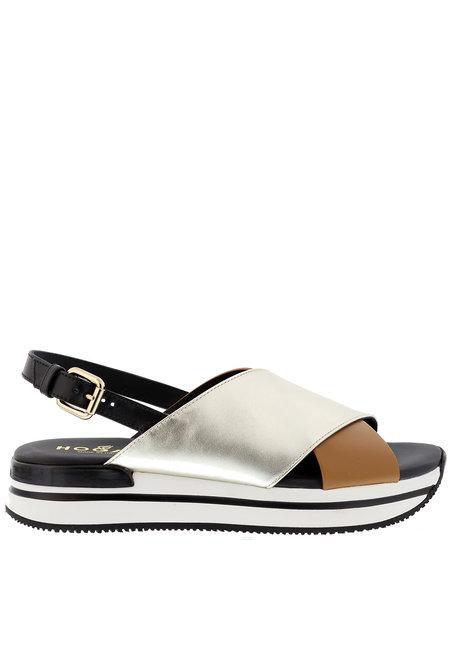 Hogan sandalen HXW2570 zilver