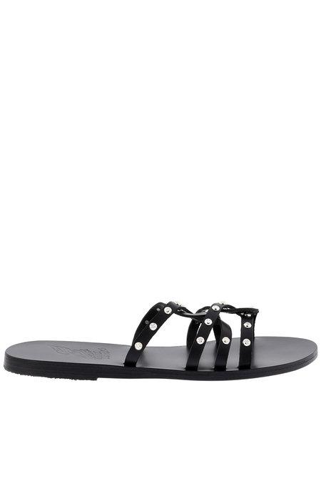 Ancient Greek Sandals slippers Revekka Rivets zwart
