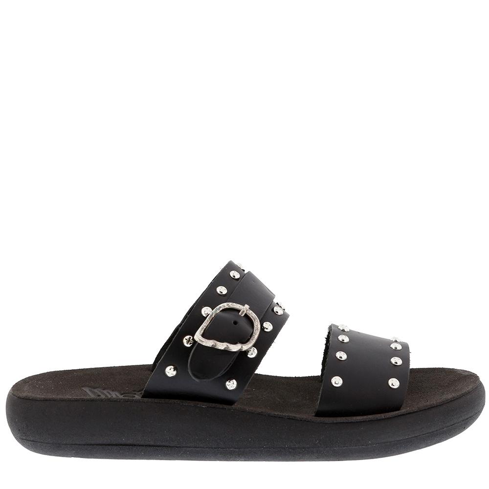 Ancient Greek Sandals slippers Preveza Rivets zwart