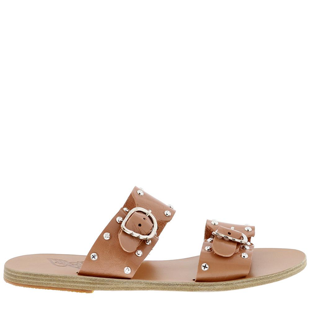 Ancient Greek Sandals slippers Messinia Rivets nude