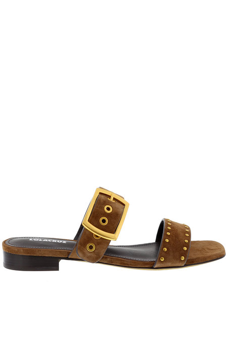 Lola Cruz slippers 123Z30BK bruin