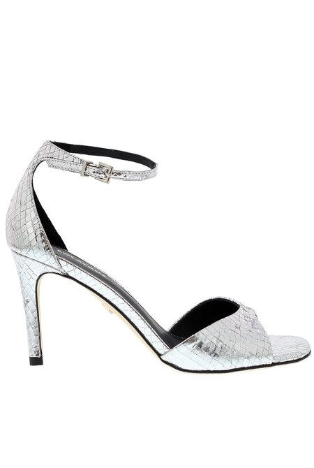 Lola Cruz sandalen 029Z46BK zilver