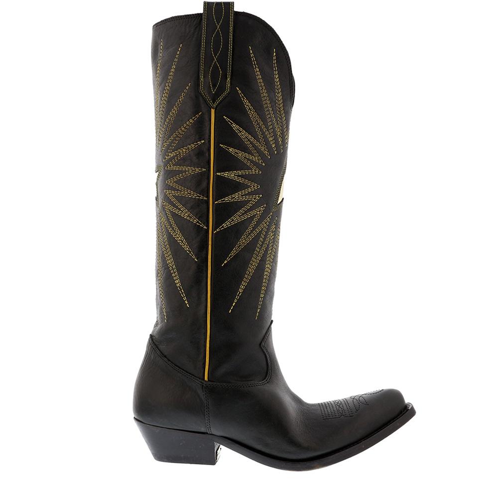 Golden Goose laarzen Wish Star zwart