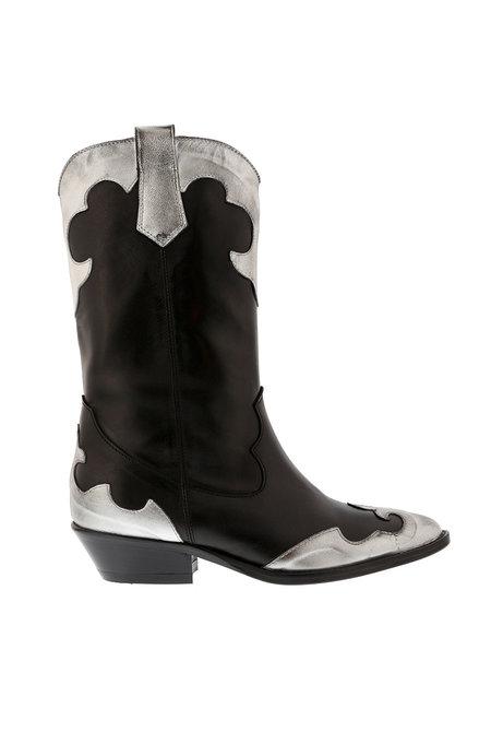Collection by Marjon korte laarzen PST 2527 zwart-zilver