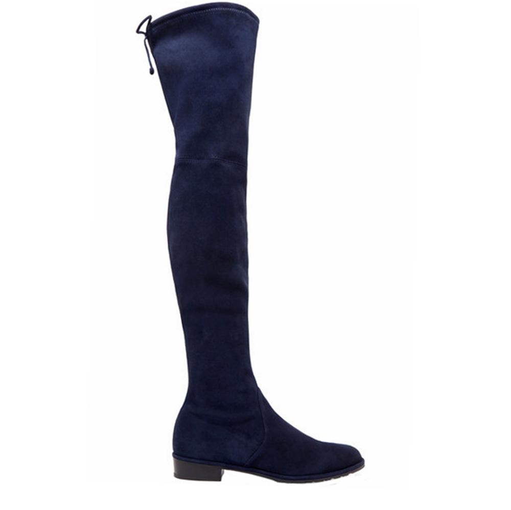 Stuart Weitzman overknee laarzen Lowland 54127 blauw