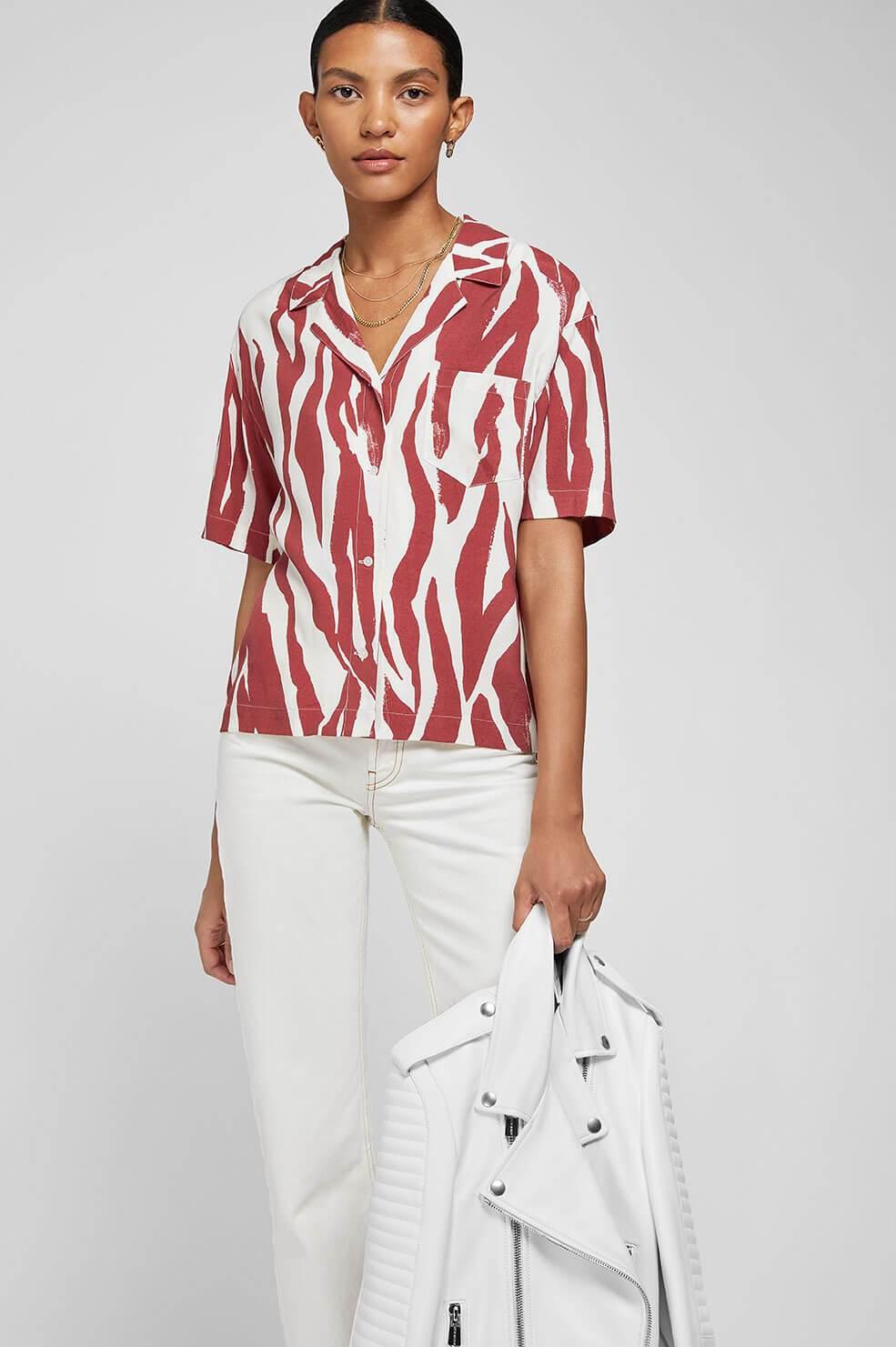 Anine Bing blouse Benji dierenprint