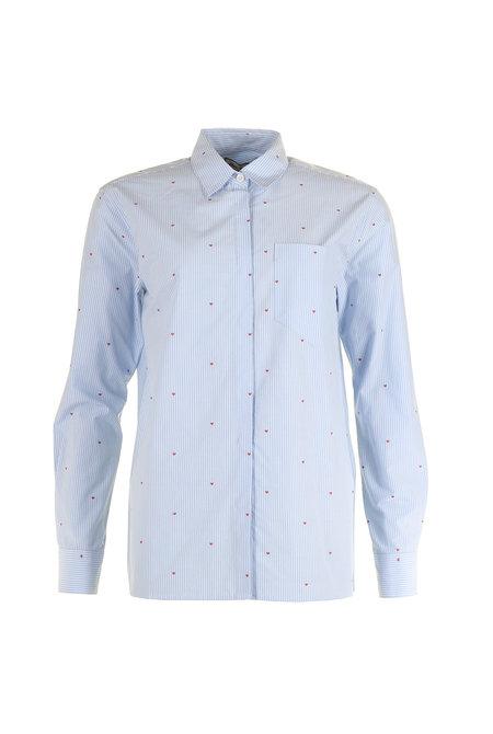 Paul & Joe blouse Ktericoeur blauw