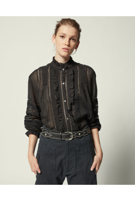 Isabel Marant blouse Valda zwart