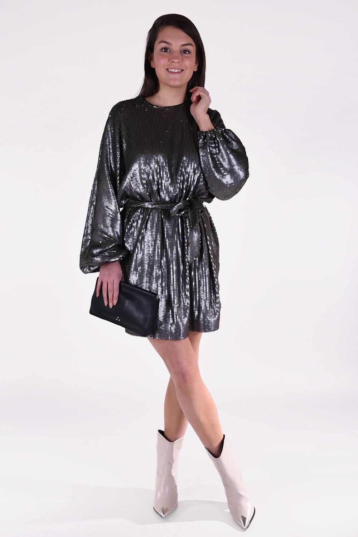 Anine Bing jurk Angie zilver