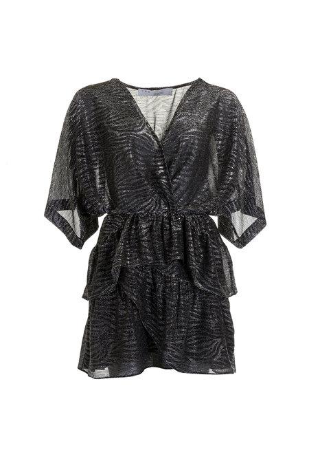 IRO jurk Wide grijs