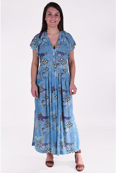Zadig & Voltaire jurk Ruskie Glam Rock blauw