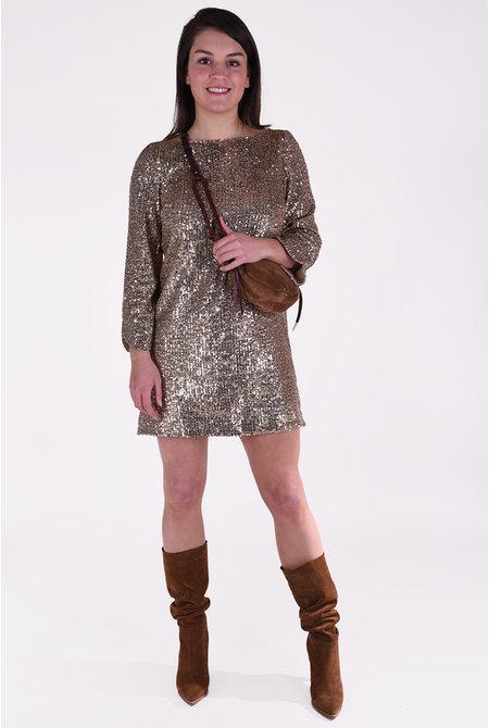 Zadig & Voltaire jurk Rim Sequins goud