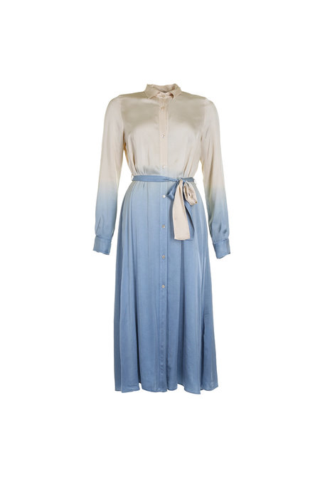 Forte_Forte jurk My dress blauw