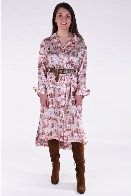 JOSEPH jurk Gaya creme-bruin