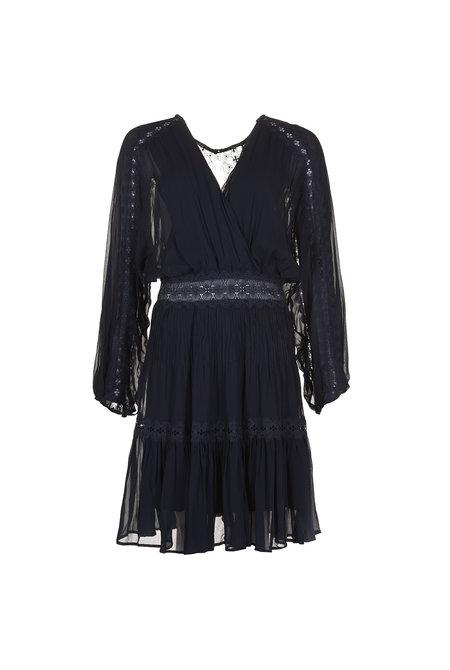 Magali Pascal jurk Camille donkerblauw