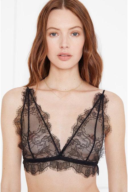 Anine Bing Delicate Lace Bra zwart