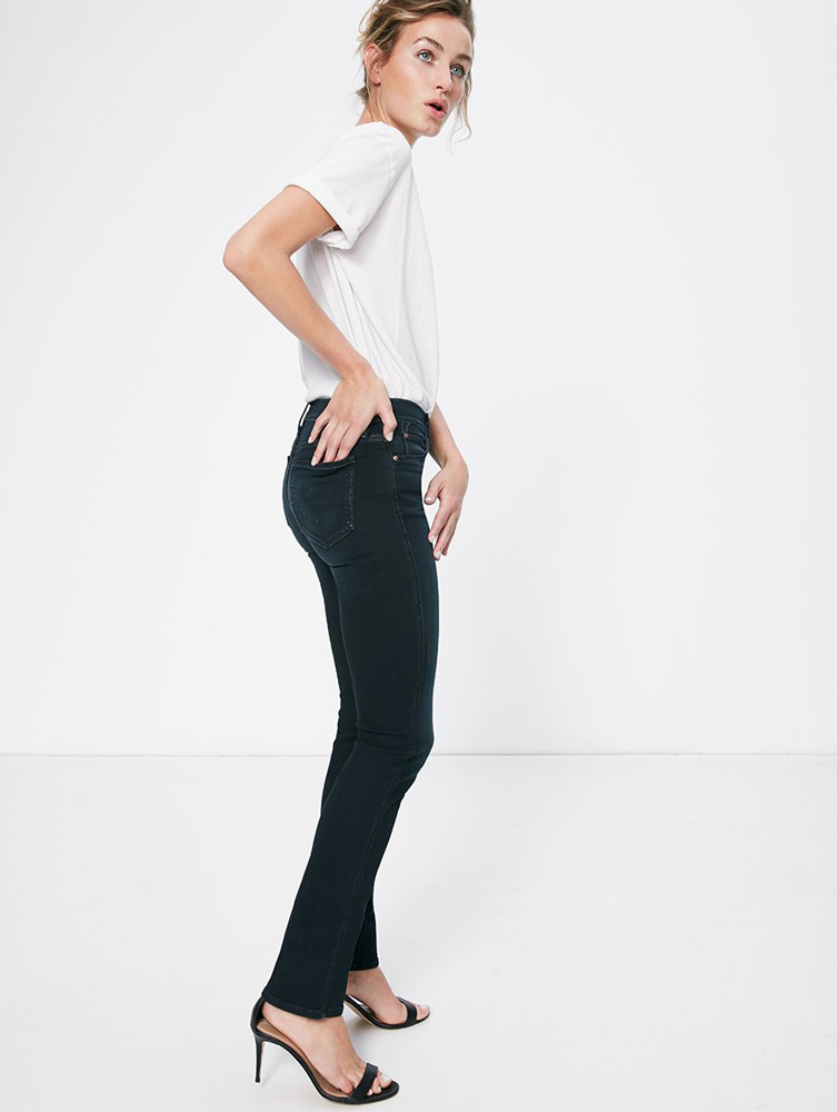 Mother jeans The Rascal Straight Stretch blauw