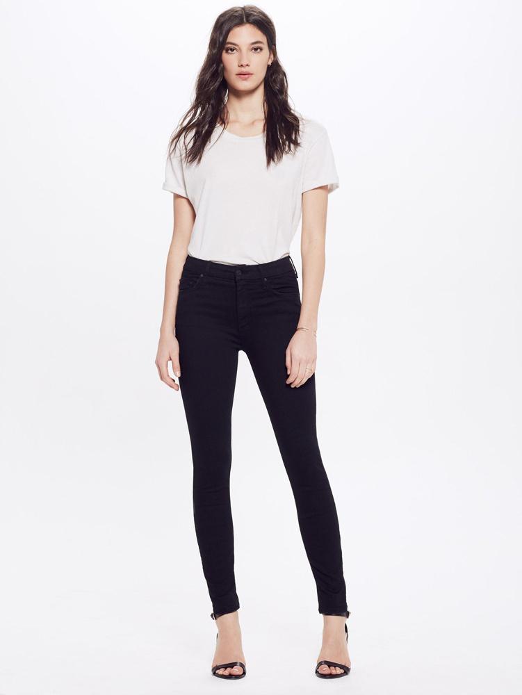 Mother jeans The High Waisted Looker zwart