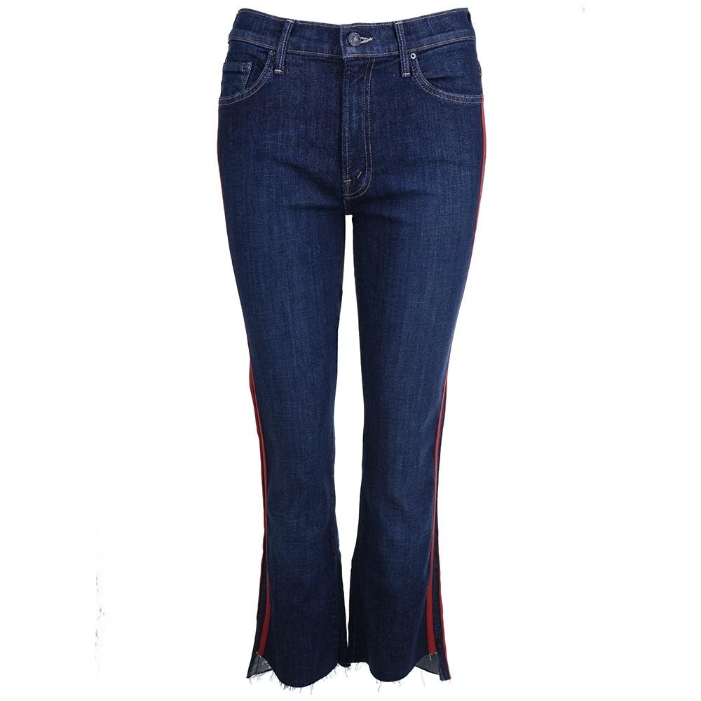 Mother jeans Insider Crop Step blauw