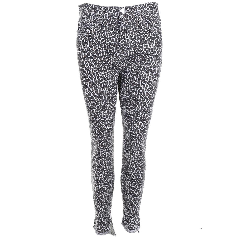 Current/Elliott jeans The Super High Waist Stiletto dierenprint