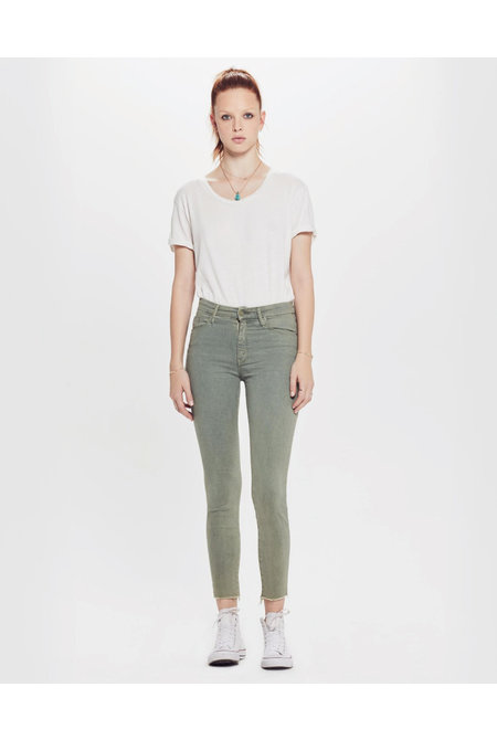 Mother jeans The High Waisted Looker Ankle Fray groen