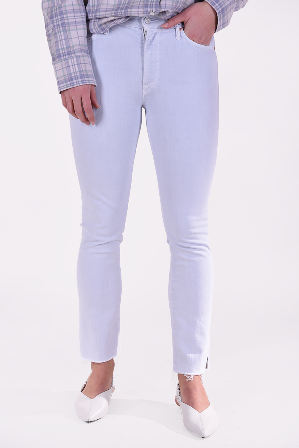 Mother jeansbroek Rascal Ankle Snippet blauw