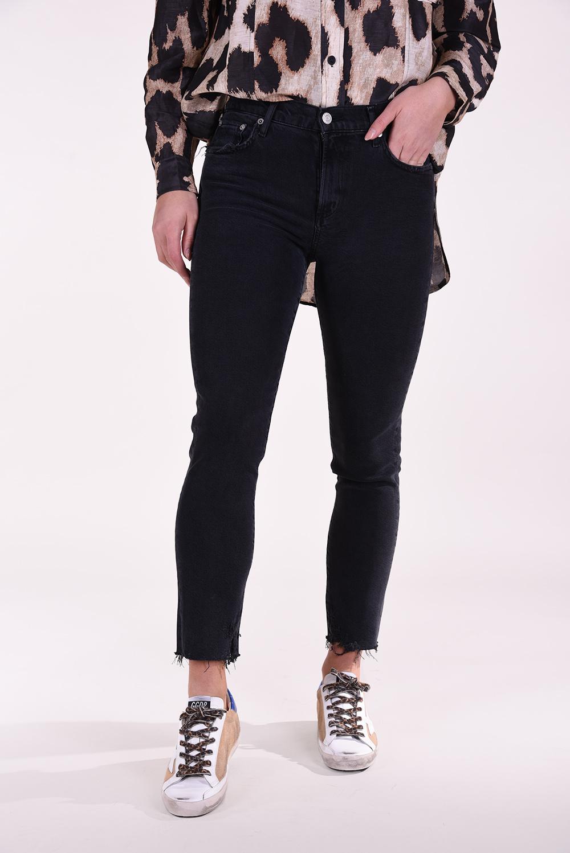 Agolde jeans Toni Midrise zwart