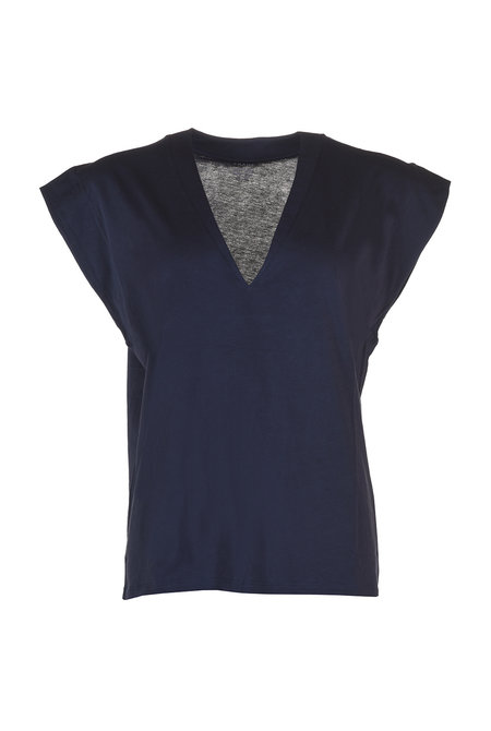 FRAME t-shirt Le Mid Rise blauw