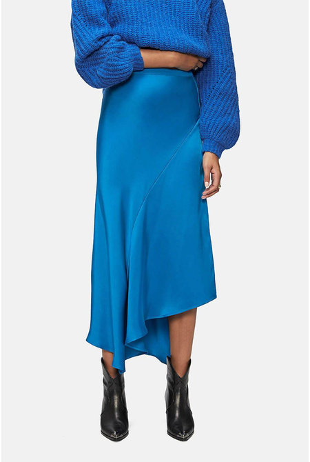 Anine Bing rok Bailey Silk blauw