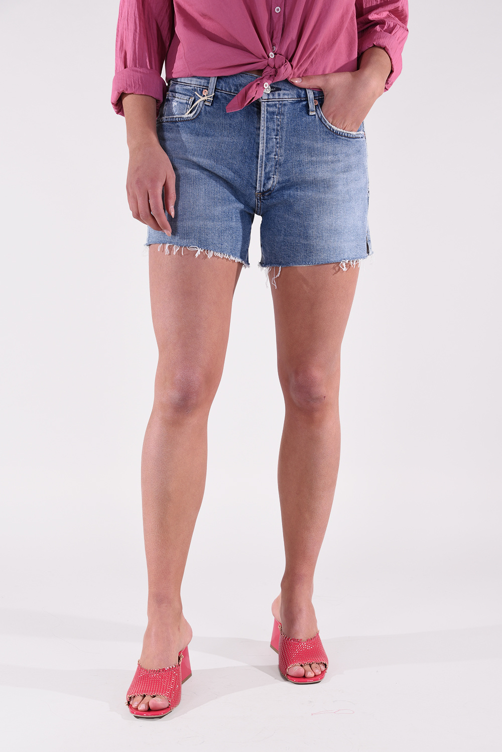 Citizens of Humanity short Marlow Easy blauw